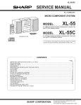 Sharp XL-55C Service manual