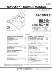 Sharp UX-118 Service manual