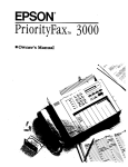 Epson PriorityFAX 3000 Specifications