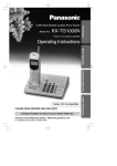 Qwest 2.4GHz Multi-Handset Cordless Phone System Operating instructions