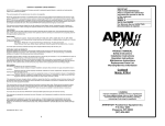 APW Wyott GWW Product manual