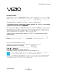 Vizio M220NV User manual