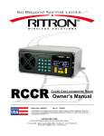 Ritron RQT-151-RCVR Owner`s manual
