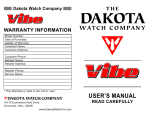 Dakota Hybrid VIBE User`s manual