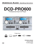 American Audio DCD-PRO600 Operating instructions