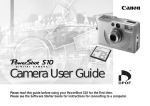 Canon POWERSHOT S10 User guide