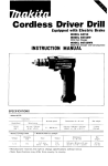 Makita CORDLESS DRIVER DRILL 6071D Instruction manual