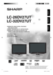 Sharp LC-26DV27UT User`s guide