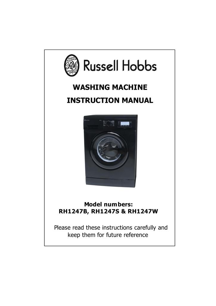 Russell Hobbs RHWM81400DIDB Instruction manual