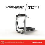 Bowflex TC10 Owner`s manual