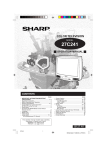 Sharp 27C241 Specifications