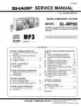 Sharp XL-MP60 Service manual