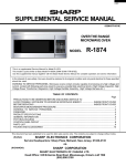 Sharp R1874T Service manual