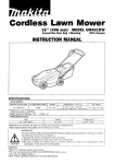 Makita UM40LDW Instruction manual