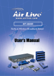AirLive WT-2000R User`s manual