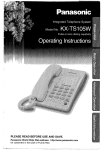 Radio Shack KX-TS105W Operating instructions