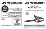 McCulloch MCC1840BC Operating instructions