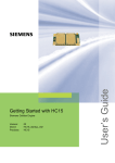 Siemens HC15 User`s guide