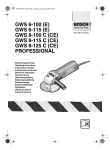 Bosch GWS 6-100 (E) Operating instructions
