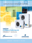 Emerson ZX Platform Condensing Unit Product manual
