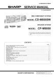 Sharp CD-CH1500 Service manual