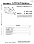 Sharp VL-AH150 Service manual