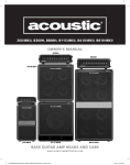 Acoustic B115 Owner`s manual