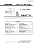Sharp XG-NV7XU Service manual