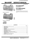 Sharp CD-C2800 Service manual
