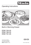 Miele ESW 761-25 Operating instructions