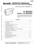 Sharp VL-WD250S Service manual