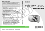 Canon PowerShot SD880 IS User guide