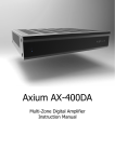 Axium AX-800DAV Instruction manual