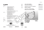 Canon ZR 40 Instruction manual