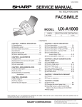 Sharp UX-A1000 Service manual