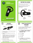 Motorola H670 - Headset - Over-the-ear User`s guide