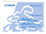 Yamaha JOGR JOGRR CS50 Owner`s manual