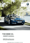 BMW Z4 sDrive28i Owner`s manual