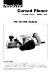 Makita CURVED PLANER 1001 Instruction manual