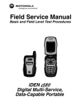 Motorola iDEN i315plus Service manual