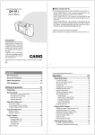 Casio A-10 Owner`s manual