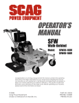 Scag Power Equipment GC-4D Operator`s manual