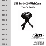ADS Technologies USB TURBO 2.0 WEB CAM User`s guide