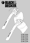 Black & Decker GW200 User manual