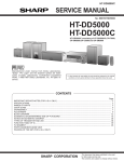 Sharp HT-DD5000 Service manual