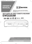 Emerson EWD2203M Owner`s manual