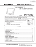 Sharp LC-10A3U Service manual