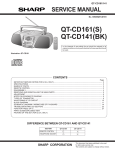 Sharp QT-CD161H Service manual