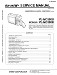 Sharp VL-MC500U Service manual