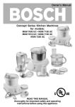 Bosch MUM 7000 UC Owner`s manual